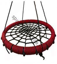 """Подвесные качели """"гнездо"""" диаметром 100 см KIDGARDEN красный"""