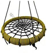 """Подвесные качели """"гнездо"""" диаметром 100 см KIDGARDEN желтый"""