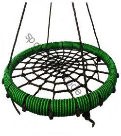 """Подвесные качели """"гнездо"""" диаметром 115 см KIDGARDEN салатовый"""