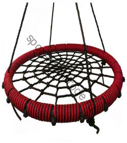 """Подвесные качели """"гнездо"""" диаметром 115 см KIDGARDEN красный"""