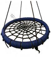 """Подвесные качели """"гнездо"""" диаметром 115 см KIDGARDEN синий"""