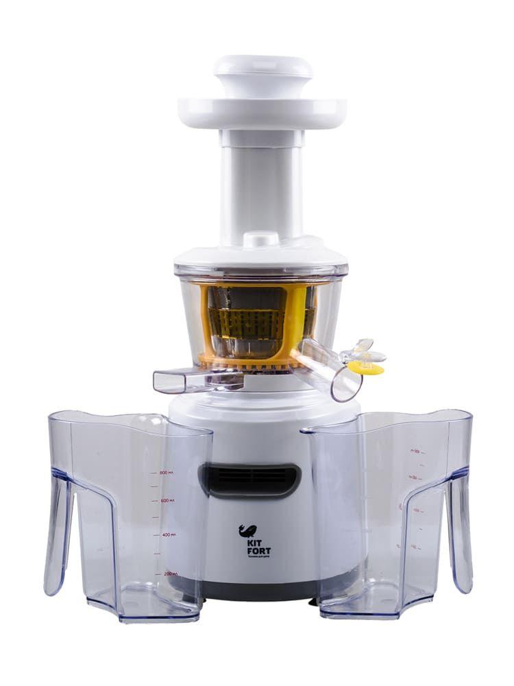 Шнековая соковыжималка KitFort КТ-1101-1 белая