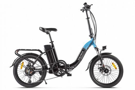 Велогибрид VOLTECO FLEX UP! Черно голубой