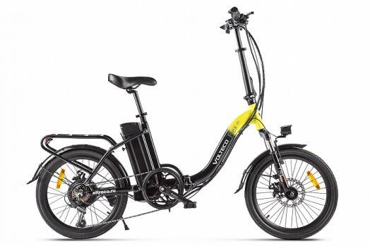 Велогибрид VOLTECO FLEX UP! Черно желтый