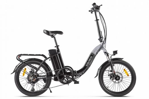 Велогибрид VOLTECO FLEX UP! Черно серый