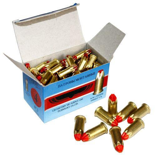 Патрон монтажный для строительных пистолетов тип Д4 калибр 6,8х18 красный, упаковка 100 штук