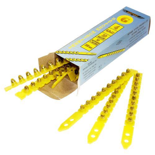 Патрон монтажный для строительных пистолетов тип К4 калибр 6,8х11 в кассете желтый, упаковка 100 шт