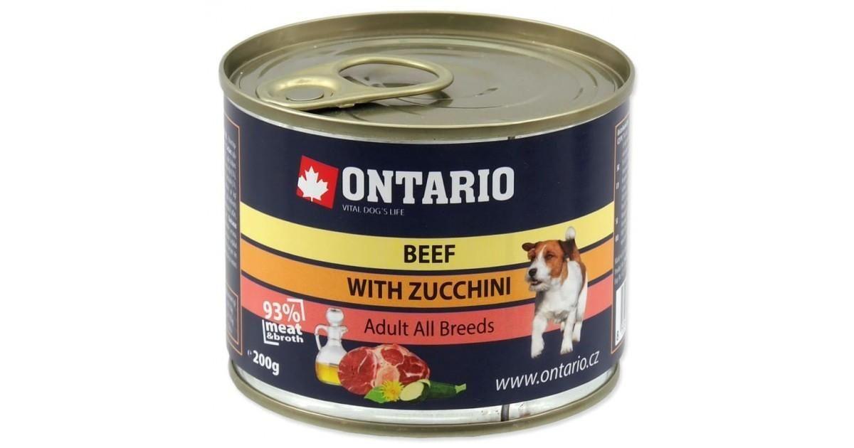 Ontario Консервы для собак: говядина и цуккини 200 гр.