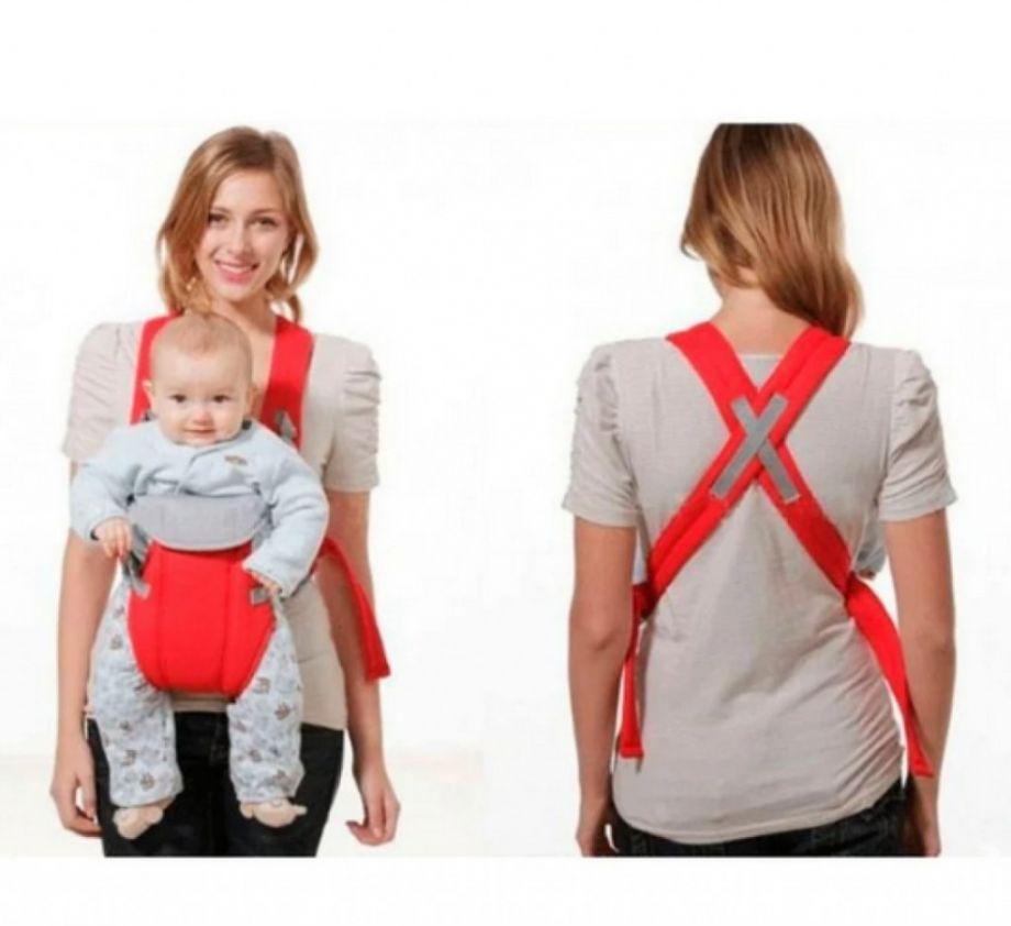 Рюкзак-кенгуру для детей от 3 до 16 месяцев,Цвет Красный