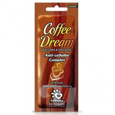 Крем д/солярия Coffee Dream 6х bronzer, 15 мл. (масла кофе и Ши)