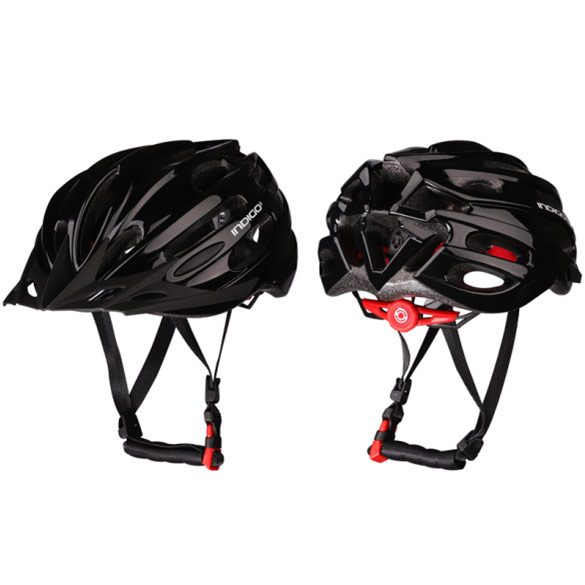 Шлем велосипедный взрослый INDIGO IN070 55-61см черный