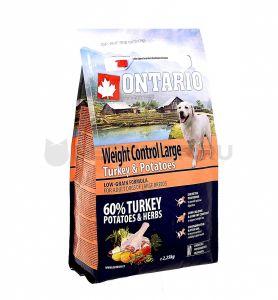 Ontario Для собак крупных пород Контроль веса с индейкой и картофелем
