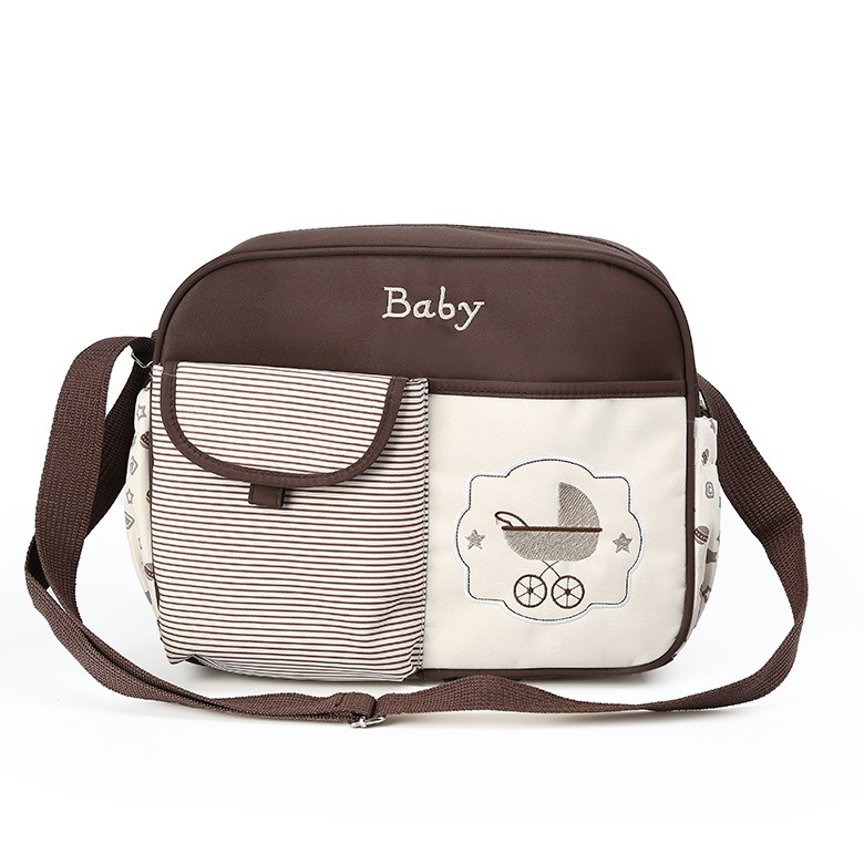 Компактная сумка для мамы Baby, 33х13х26 см, Цвет Коричневый