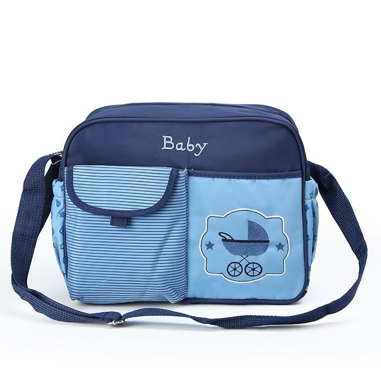 Компактная сумка для мамы Baby, 33х13х26 см, Цвет Синий