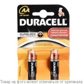 бат. 1,5V  (AA) пальч.<alkaline> LR 6-2BL     DURACELL, шт