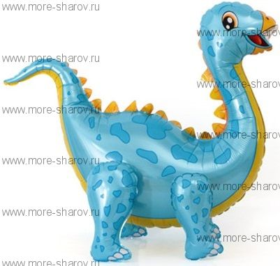 Шар Динозавр Стегозавр 99 см Голубой