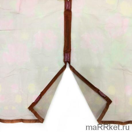 Дверная антимоскитная сетка с рисунком на 7 магнитах-птичках (коричневый)