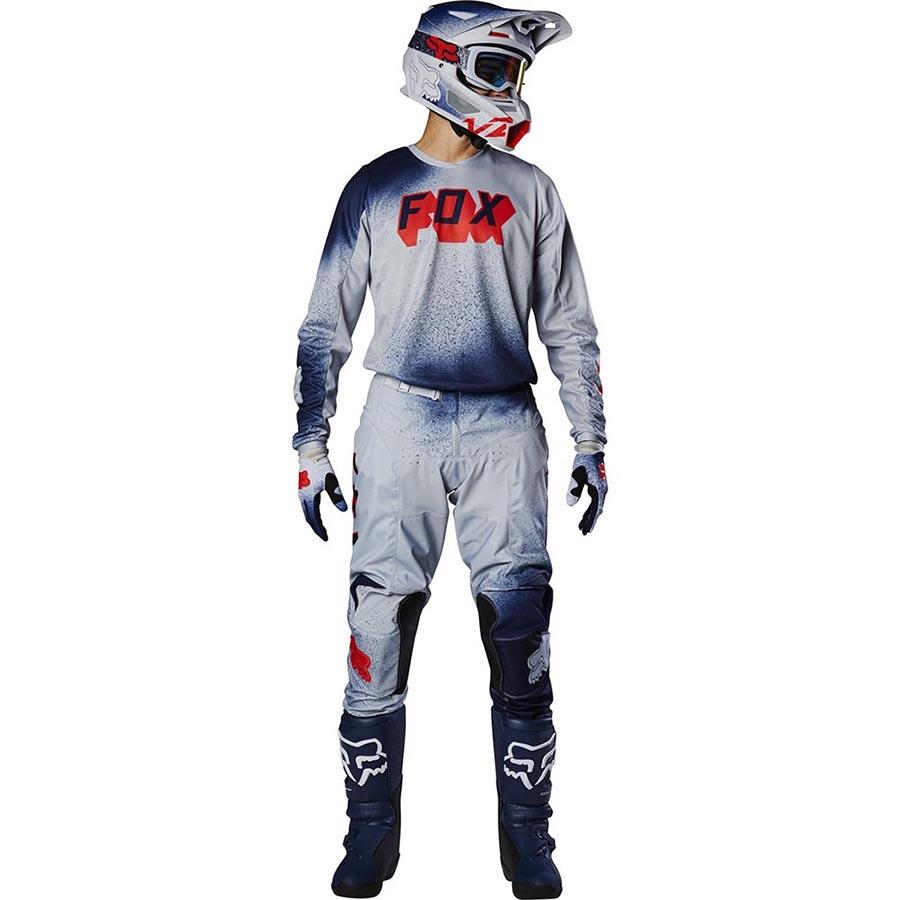 Fox 180 BNKZ Special Edition Grey джерси и штаны для мотокросса, серые