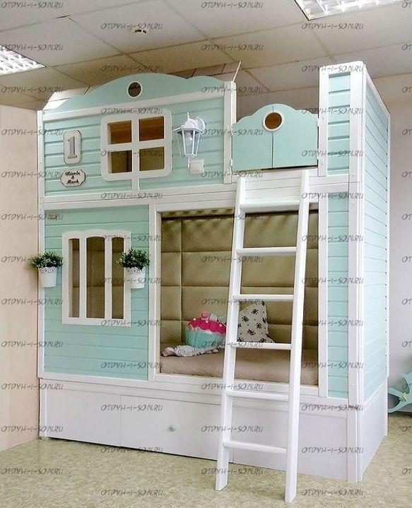 Двухъярусная кровать домик Fantasy №17