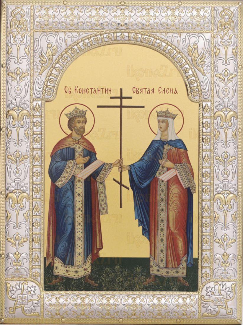 Икона Константин и Елена равноапостольные (18х24см)