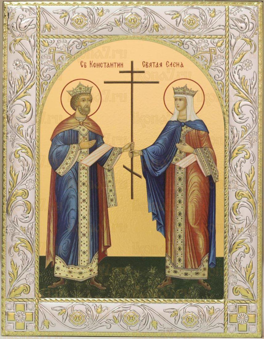 Икона Константин и Елена равноапостольные (14х18см)