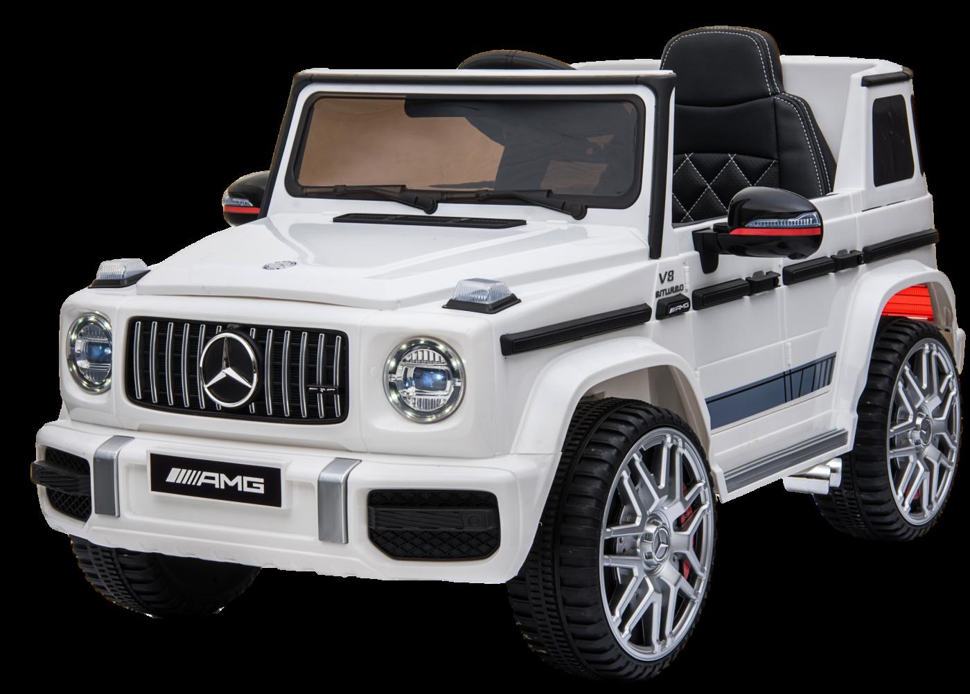 Детский электромобиль (2020) BBH-0003 G63 (12V, колесо EVA, экокожа) Белый