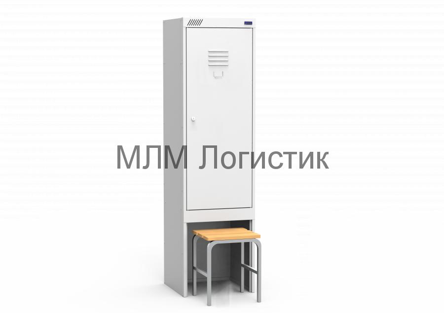 Металлические шкафы для одежды серии ШРК-22 со скамьей