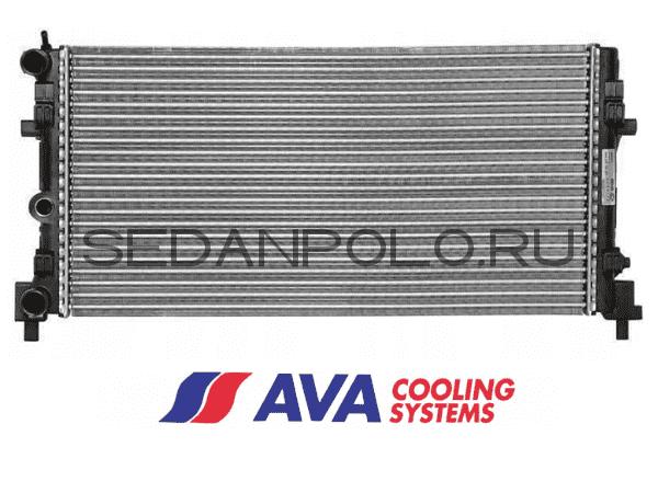 Радиатор охлаждения основной AVA Volkswagen Polo Sedan/Skoda Rapid