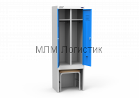 Металлические шкафы для одежды серии ШРЭК со скамьей