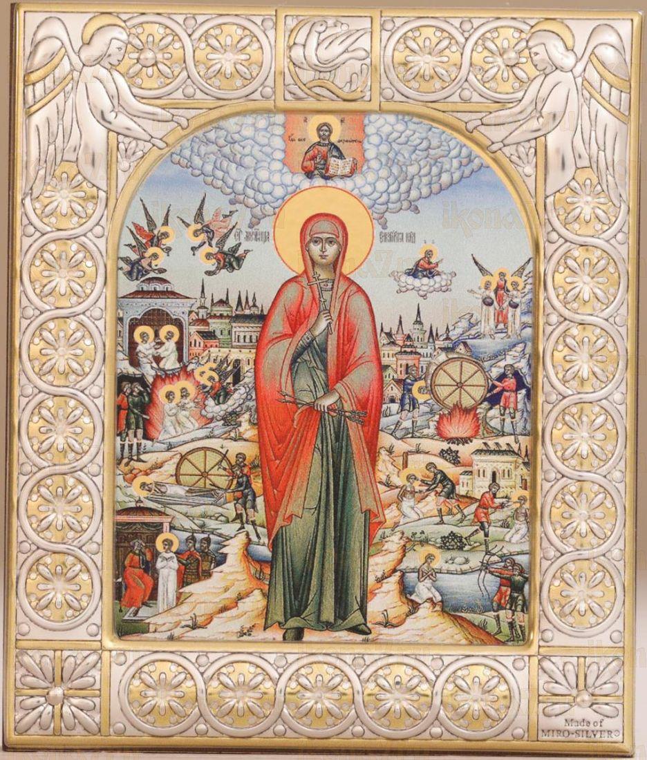 Икона Виктория Кордувийская мученица (9х10,5см)
