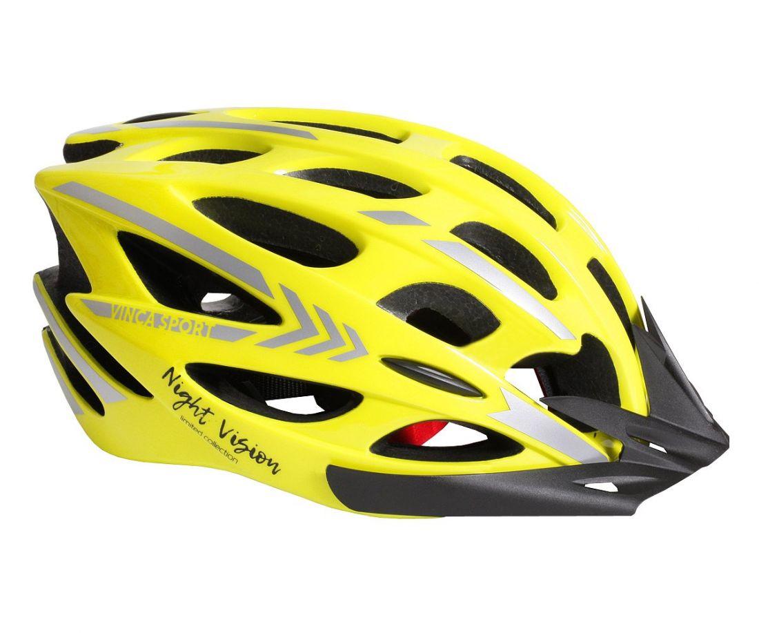 Шлем велосипедный взрослый VSH 14 night vision желтый