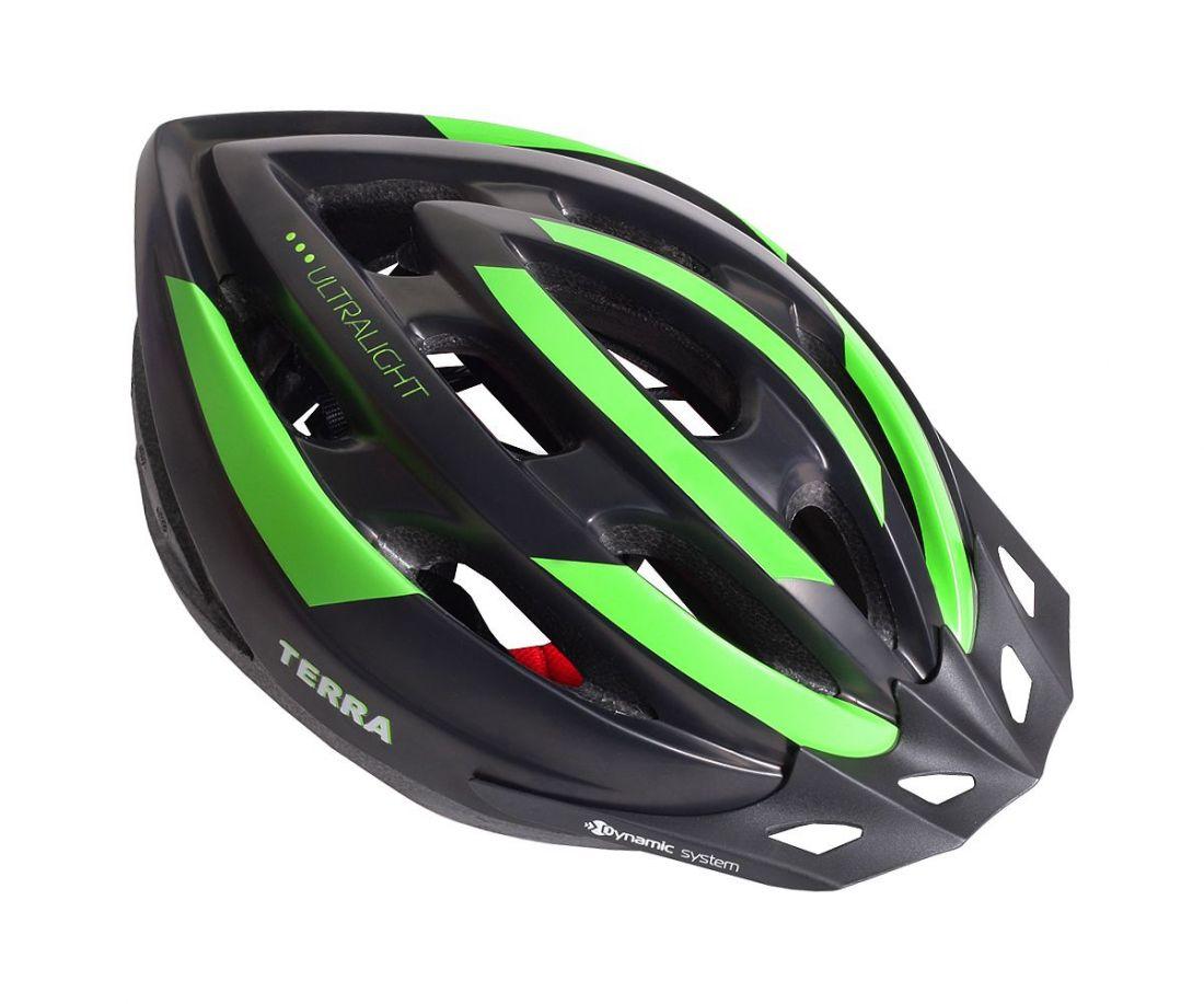 Шлем велосипедный взрослый VSH 23 New Terra черно-зеленый