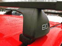 Багажник на крышу Mazda 3 BK/BL 2003-13, sedan/hatchback, Евродеталь, стальные прямоугольные дуги