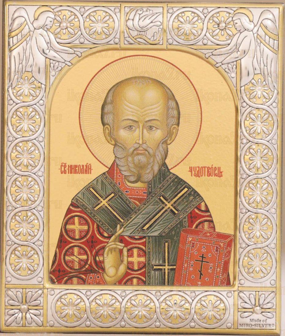 Икона Николай чудотворец (9х10,5см)