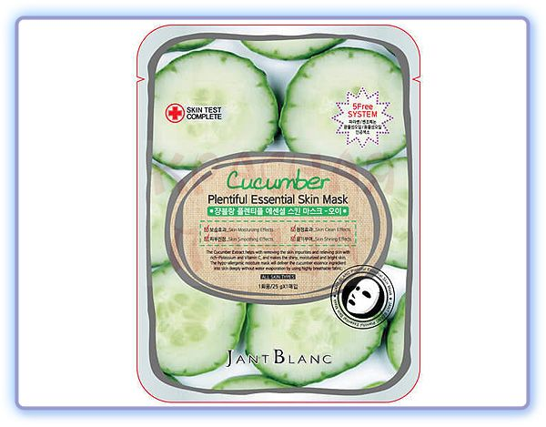 Маска для лица с экстрактом огурца Jant Blanc Cucumber Plentiful Essential Skin Mask