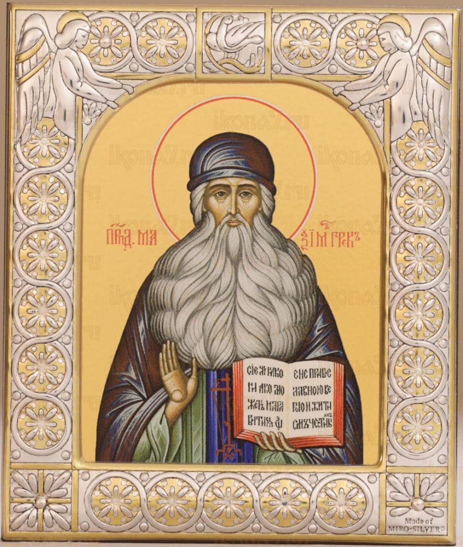 Икона Максим Грек преподобный (9х10,5см)