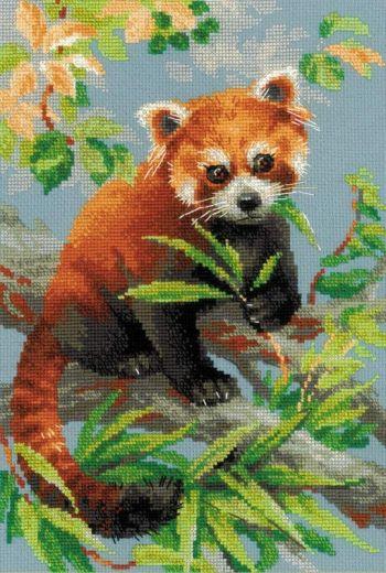 Набор для вышивания крестом Красная панда №1627 фирма Риолис