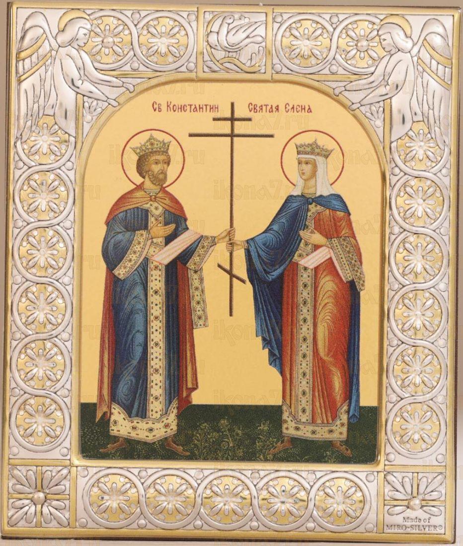 Икона Константин и Елена равноапостольные (9х10,5см)