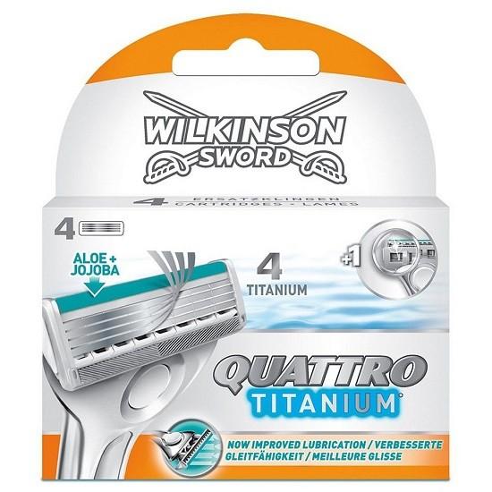 Schick / Wilkinson Sword Quattro Titanium сменные кассеты (4 шт)