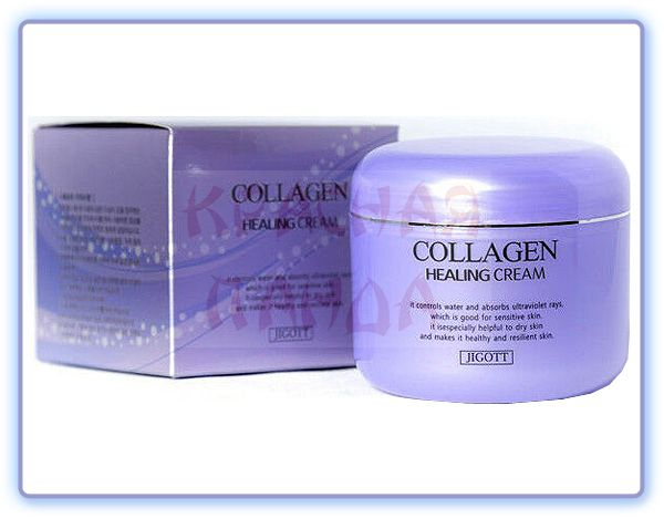 Ночной крем для лица с коллагеном Jigott Collagen Healing Cream