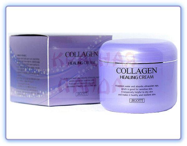 Ночной крем для лица с коллагеном Jigott Collagen Healing Cream