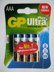 Батарейка GP Ultra Plus Alkaline AAA 4 шт