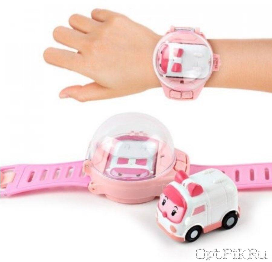 Браслет с радиоуправляемой машинкой (розовый)
