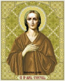 БС Солес СМЄ Святая Мария Египетская схема для вышивки бисером купить оптом в магазине Золотая Игла