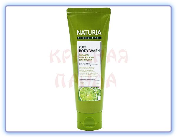 Гель для душа Мята и Лайм Naturia Pure Body Wash Wild Mint & Lime (100 мл)