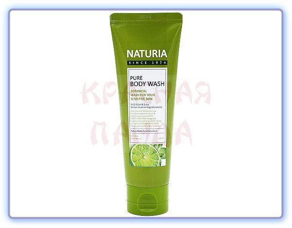 Гель для душа Мята и Лайм Naturia Pure Body Wash Wild Mint & Lime (100 мл)