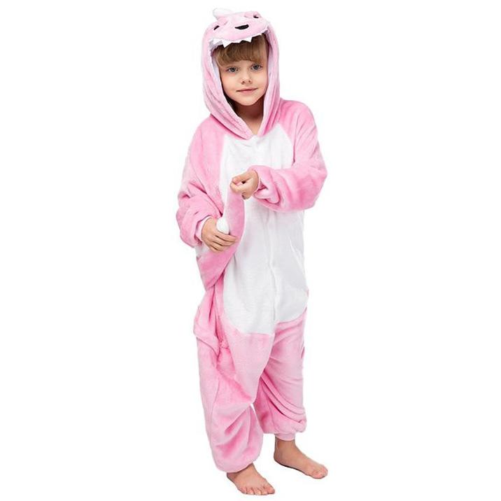 Детская Пижама Кигуруми Динозавр Розовый