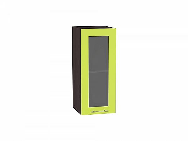 Шкаф верхний Валерия В309 со стеклом (лайм глянец)