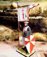 Рыцарь Ордена меченосцев, 1202-1237 гг. Оловянная. Роспись. Авторская работа