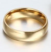 Позолоченные обручальные кольца (6 мм)